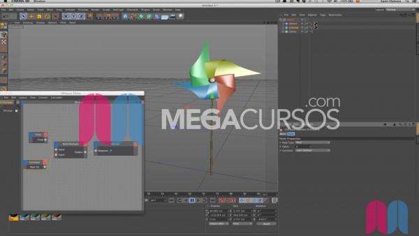 Usa XPresso para programar animaciones automáticas a base de nodos y scripts