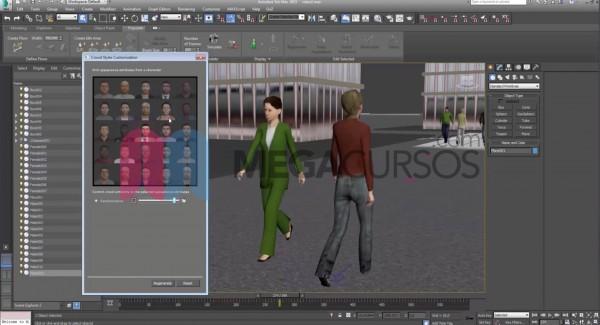 Utiliza Populate para creaar grandes aglomeraciones de personas con animaciones y comportamientos hiperrealistas