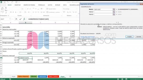 Estudia riesgos y rentabilidad usando aritmética de Excel
