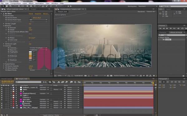 After Effects - Proyecto Star Wars películas avanzadas