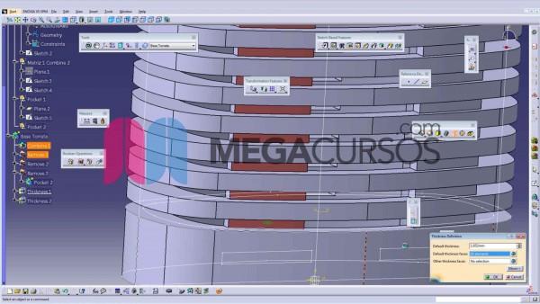 En el proyecto Torre de ventilación vamos a trabajar con las operaciones combine, affinity, closesurface y matriz