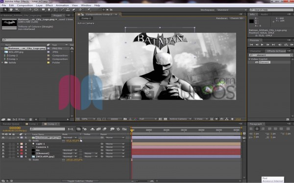 After Effects - Proyecto Batman oscuro