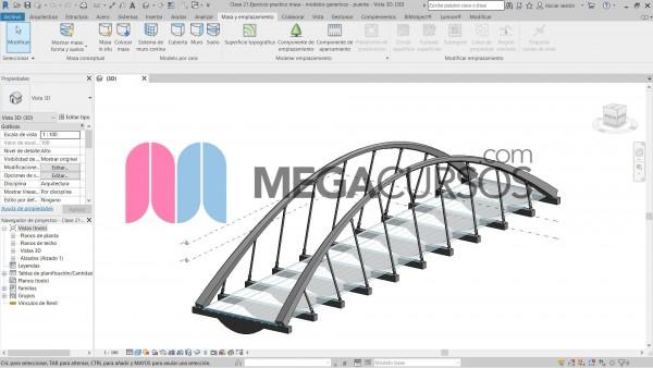 Revit - Ejercicio práctico masa.  Modelo genérico. Puente