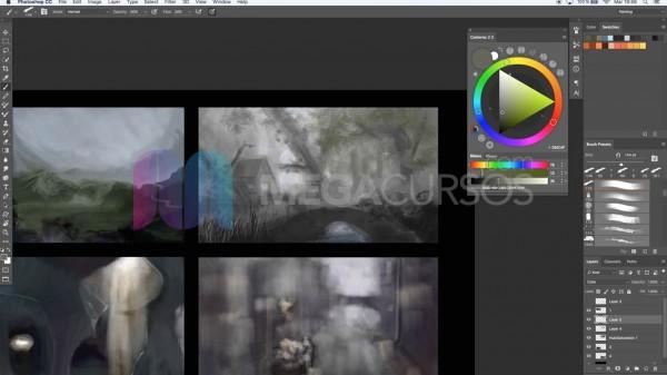 Dibujo digital con Ps - Crea thumnails rápidos para videojuegos y escenarios varios