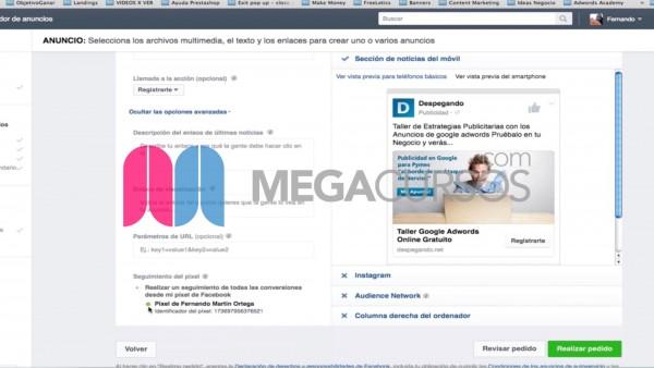 (Facebook Ads) Integra el píxel en tu web para saber las conversiones en ventas de tus anuncios
