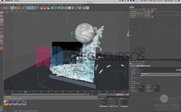 Cinema 4D - Combina físicas y divisores poligonales