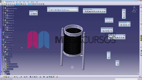 Aprenderemos a realizar matrices circulares con un modelado de papelera