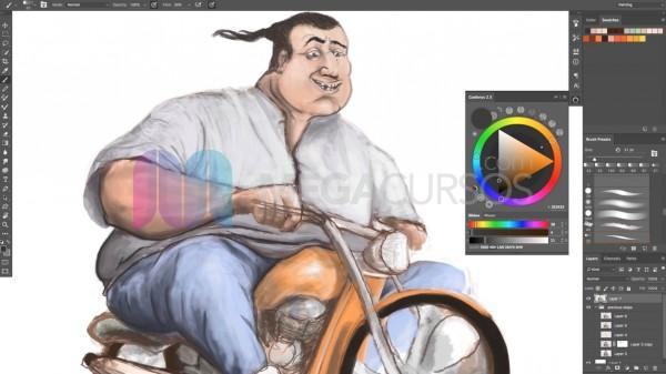 Dibujo digital con Ps - Crea personajes espectaculares desde 0