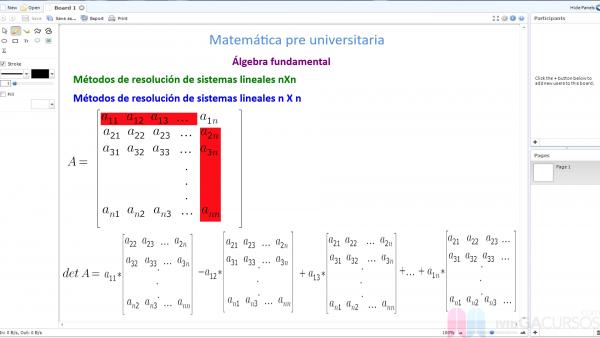 Resolución de sistemas de ecuaciones. Método de Cramer