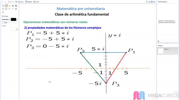 Operaciones en la aritmética fundamental. Números complejos