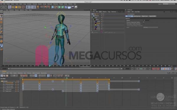 Cinema 4D - Aprende a animar el cuerpo de personajes a partir de rigging