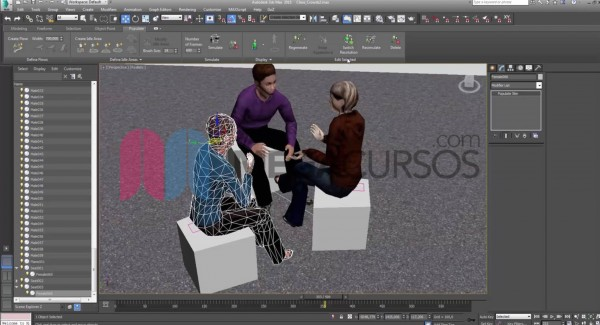Descubre la animación de interacción humana