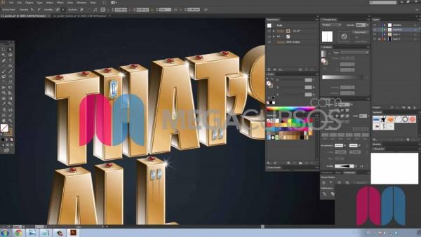Diseña espectaculares textos tridimensionales