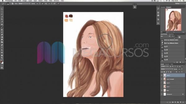 Dibujo digital con Ps - Aprende las técnicas de dibujo de pelo y cabello