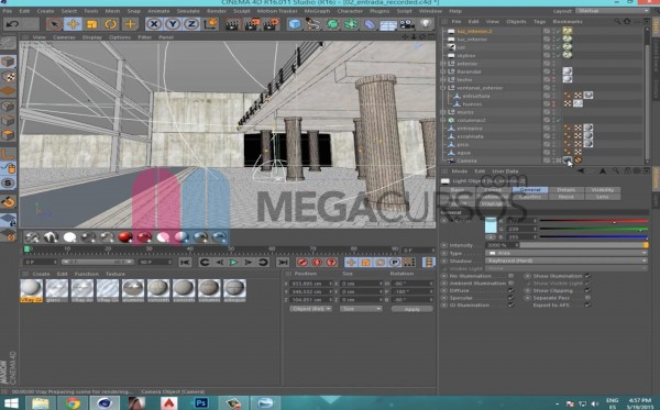 Cinema 4D - Diseña escenas arquitectónicas complejas