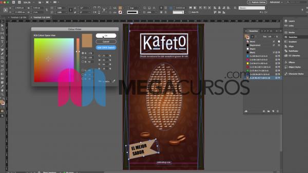 Creación de un flyer para un café