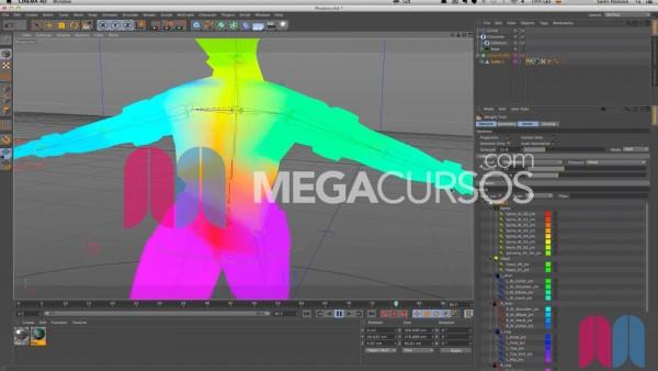 Aprende a usar mapas de fuerza para preparar animaciones de rigging