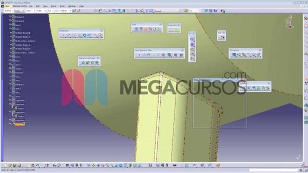 Catia - Repaso de las herramientas de superficie modelando un secador