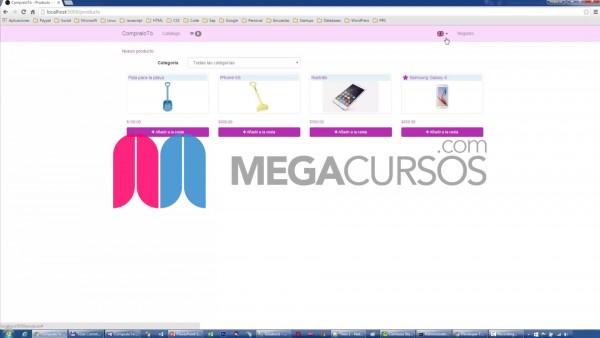 Crea un sistema de comercio online con inventario y carrito de compra desde 0
