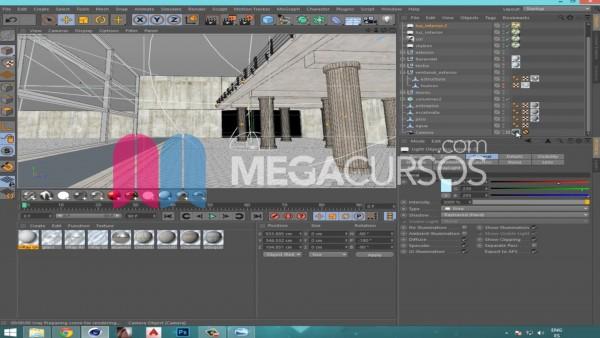 Diseña escenas arquitectónicas complejas