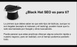 Black Hat SEO vs. White Hat SEO.