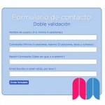 Un formulario PHP con doble validación. Parte 1