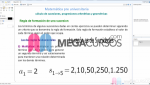 Cálculo de sucesiones, progresiones aritméticas y geométricas. Parte A