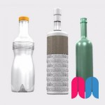 Revoluciones, Texto 3D y materiales - Proyecto 'Botellas' + Render