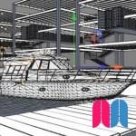 Muelle con barco (Parte A)