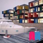 Muelle con barco (Parte B)